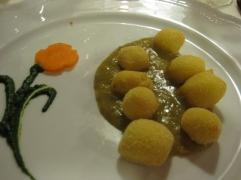 Fried Potato Ngocchi with Artichoke Sauce