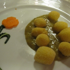 Fried Potato Ngocchi with Artichoke Sauce