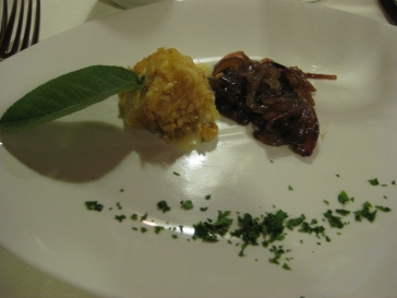 Tuma Chese Wrapped in Hazelnuts with Carmelized Onions